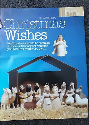 Alan Dart Christmas Wishes Nativity set Knitting pattern