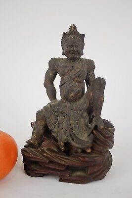 A rare Antique Chinese wooden fantastic Statue Ming Dy