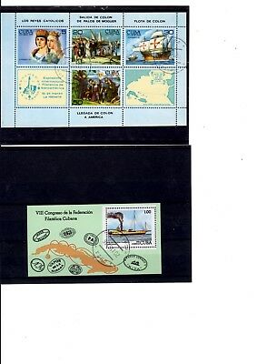 Briefmarken Karibik  2 Block`s