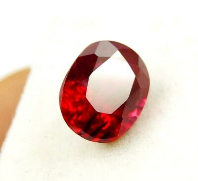 GGL Certified Natural Red Ruby 8.10 Ct Oval Cut Mozambique Gem New Year Offer
