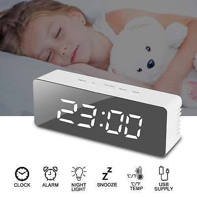 Multifunctional Large LED Digital Wall Clock 12H//24H Time Display With M5I9