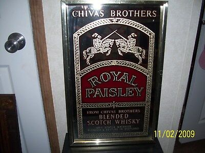 Chivas Brothers Scotch Whiskey~ Bar Mirror ~ Wall Picture ~ Man Cave
