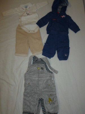 Lot Jogging Disney Salopette Body Pantalon Bebe Garcon 3 Mois Tb Etat D56