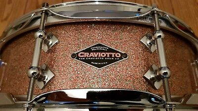 """Craviotto 14"""" x 4,5"""" Maple Snare in Peacock Sparkle im 1A Topzustand! Selten!"""