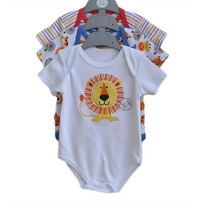Babys long sleeved bodysuit with lion/stripes/animal print pattern 0  - 3 months
