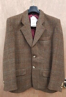 """New ** Men's Caldene Tweed Hacking Jacket Show Hunting Country Casual 38"""""""
