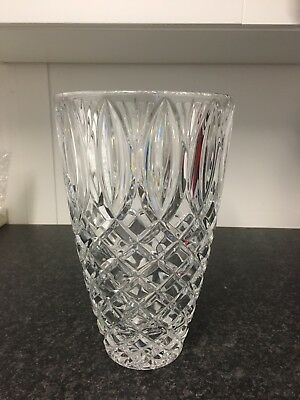 Waterford Grant Crystal Glass Bouquet Stunning Rose Flower 10'' Vase New Boxed
