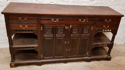 Antique Large walnut Victorian Chiffonier sideboard Circa 1880-1890
