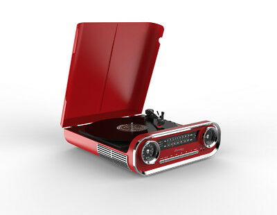 New Blaupunkt - RTR9 - Retro Turntable - Red
