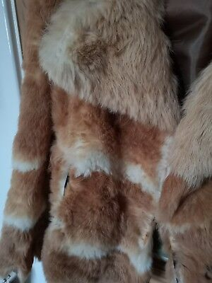 Real Fur Vintage Jacket Coat Size 8 RRP £110