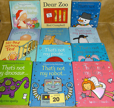 Usborne touchy-feely toddler books That's Not My Bundle + Dear Zoo & more x 12