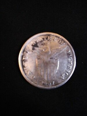 US Philippines 1907-S One Peso Silver Coin