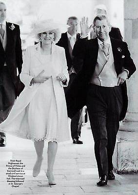 Prince Charles & Camilla Wedding 1 Page Picture Clipping