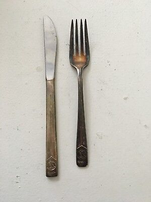 Northwest Airlines Silverware Fork & Knife