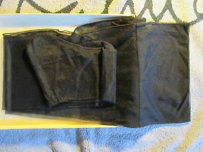 bas nylon voile vintage lisse couture.Black seamed .Fully fashioned .76 cm.