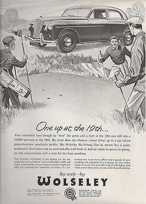 Wolseley Cowley Oxford Six-Ninety Saloon Golf Course Deal 1956 Vintage Advert