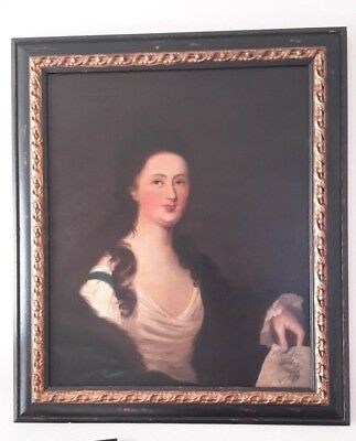 1789 Oil Portrait Painting Attributed to Sir William Beechey