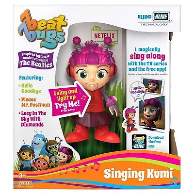 "Beat Bugs Hijinx Alive Technology 6"" Singing Kumi Toy"