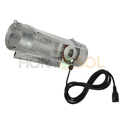 "HORTOSOL Reflector Cooltube 125mm x 400mm 5"" - lámparas E40 HPS MH + 4m cable"