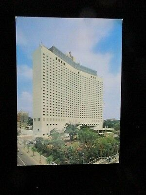 The Pacific Hotel Takanawa Tokyo Japan Postcard Posted Stamp Air Mail