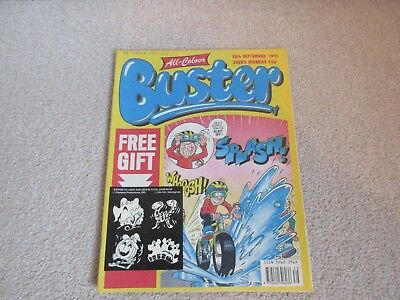 BUSTER COMIC  + free gift stickers- Sept 28th 1991-,  very Good condition