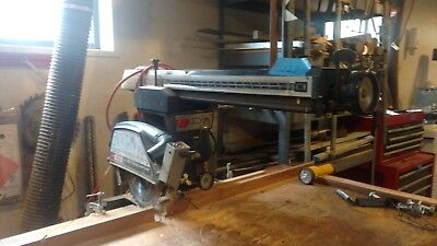 """Craftsman 10"""" radial arm saw-used- with stand, 2 drawers."""