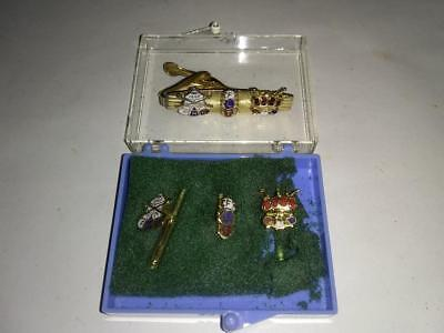 ODD FELLOWS TIE CLIP set cufflinks FHC 4 piece set FLT-IOOF