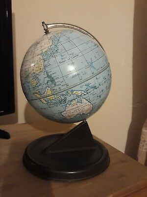 Lovely Vintage Chad Valley Metal Tin Globe Made In England