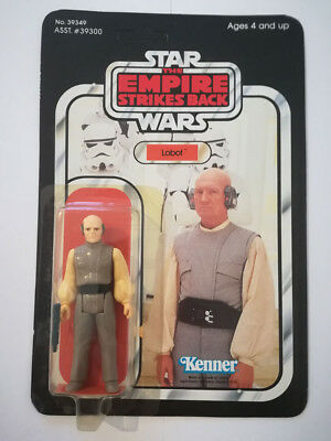 Star Wars TESB Vintage Action Figure Lobot 41-back unpunched Kenner