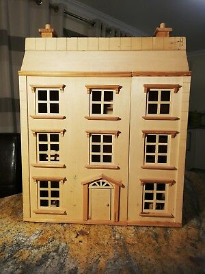 ELC Georgian Wooden Doll's House 7 Bedroom Furniture -  Unpainted House