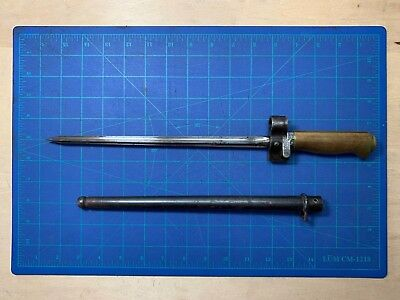 French M1886/93/16 Lebel Short Brass Handle Bayonet and Scabbard