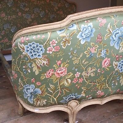 Antique Vintage Original early 20th Century French Double Bed Corbeille