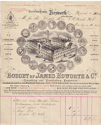 Billhead James Howarth & Co.Ventilation Engineers Bought By G H Finch M.P. 1904