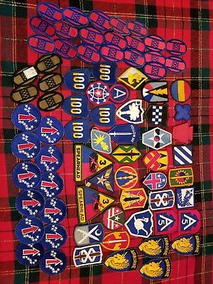 Vintage Lot of (70+) U.S Army Military Patches NO RESERVE