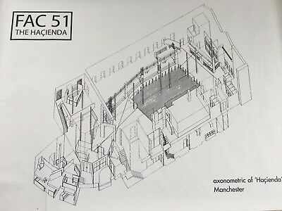 Hacienda Fac51 Nightclub Axonometric Projection Poster - Dance Madchester