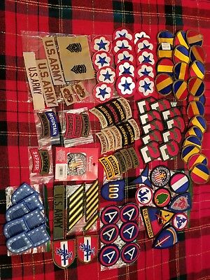Vintage Lot of (100) U.S Army Military Patches NO RESERVE