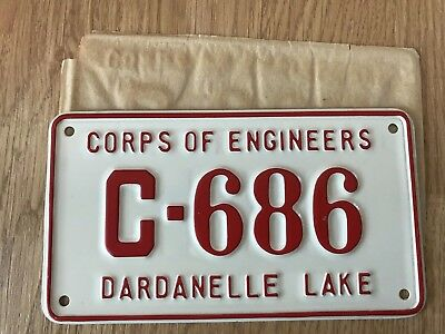 1990s Arkansas license plate sign Dardanelle Lake US Corps of Engineers