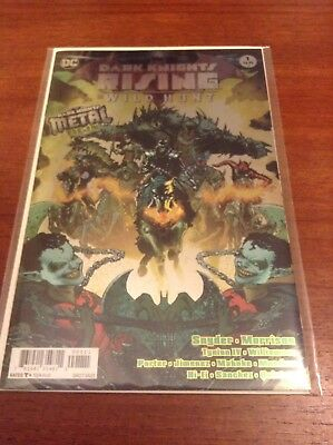 Dark Nights Batman The Wild Hunt #1 (DC, 2017, First Print, Metal Tie-In)