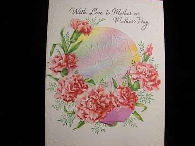 """Vintage """"for The Understanding And Love Mother!!"""" Mother's Day Greeting Card"""