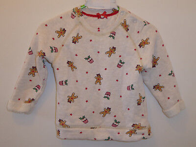 MOTHERCARE - Baby Boys Christmas Gingerbread Man Jumper Sweater 9-12 Months VGC