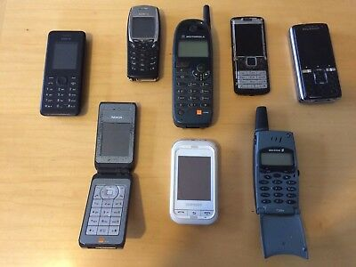 8 Vintage Mobile Phone Bundle With Chargers And Accessories