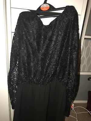 kylie black lace playsuit size 11-12 years good condition great for christmas