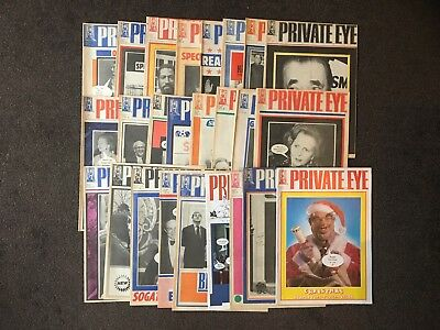 Private Eye Magazines x 25 - From 1986