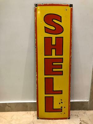 Vintage Porcelain Shell Motor Oil Enamel Sign