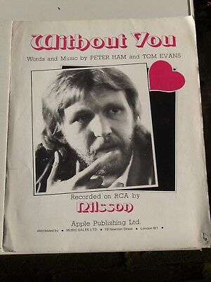 Without You Nilsson Sheet Music