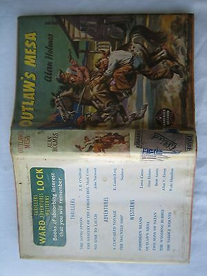 Extremely Rare Western Book Outlaw's Mesa by Alan Holmes 1957 1st edition ex-lib