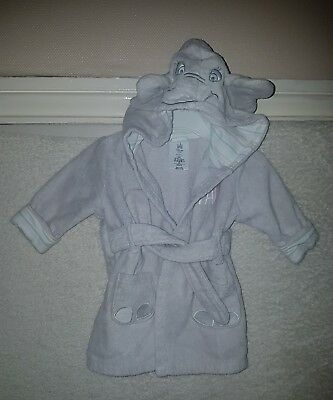 Baby girl 3 to 6 months grey dressing gown Disney Store great quality condition