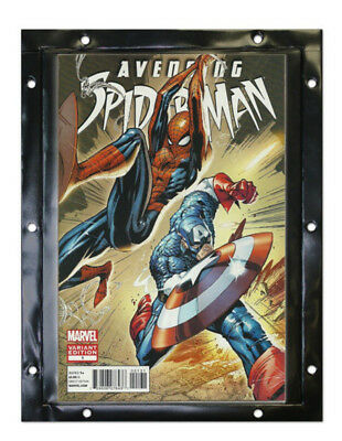 (6) Bcw Comic Book Wall Mount Snap-It Display Panel Protector Storage Holders