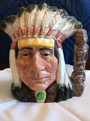 Royal Doulton Character Jug North American Indian D6611 large