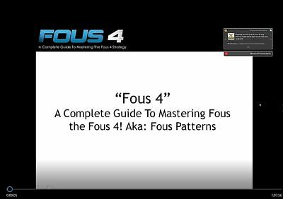 *UPDATED* CAMERON FOUS - FOUS4 Swing Trading System **Physical Dvd Sent**